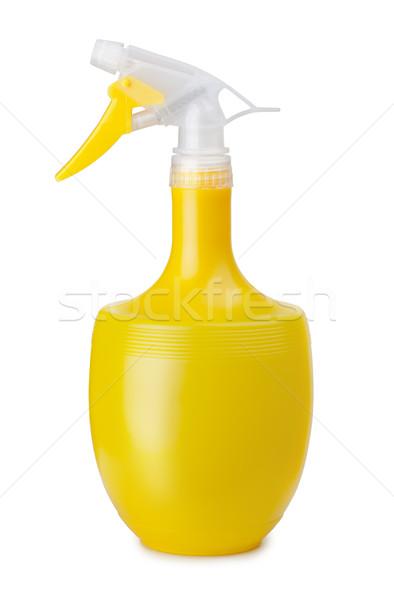 Spray bouteille jaune plastique isolé blanche Photo stock © coprid