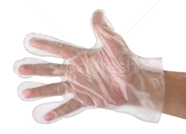 Hand in  plastic glove Stock photo © coprid