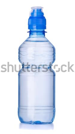 Manierka plastikowe butelki wody odizolowany biały Zdjęcia stock © coprid