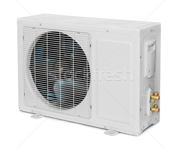 ストックフォト: 空調装置 · ユニット · 孤立した · 白 · 家 · 金属
