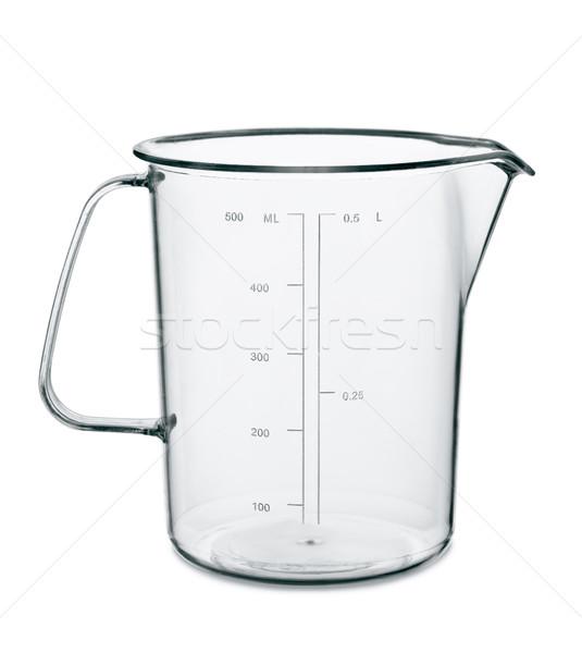 Foto stock: Copo · vazio · cozinha · isolado · branco