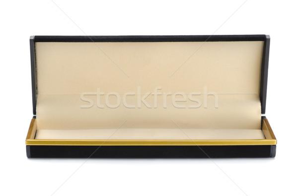 宝石 ボックス オープン 空っぽ 黒 孤立した ストックフォト © coprid