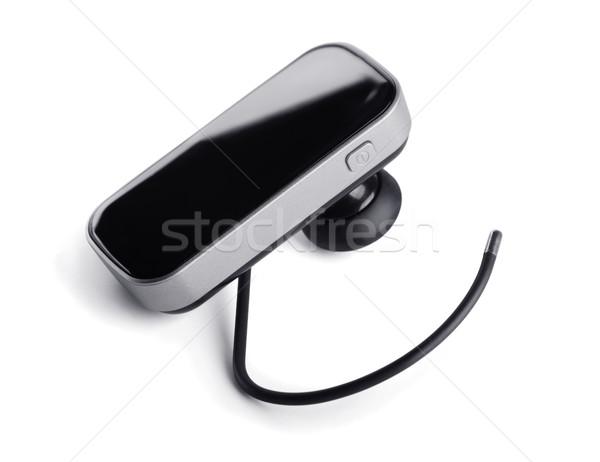 Bluetooth fone isolado branco carro metal Foto stock © coprid