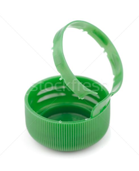 бутылку Cap зеленый пластиковых изолированный белый Сток-фото © coprid