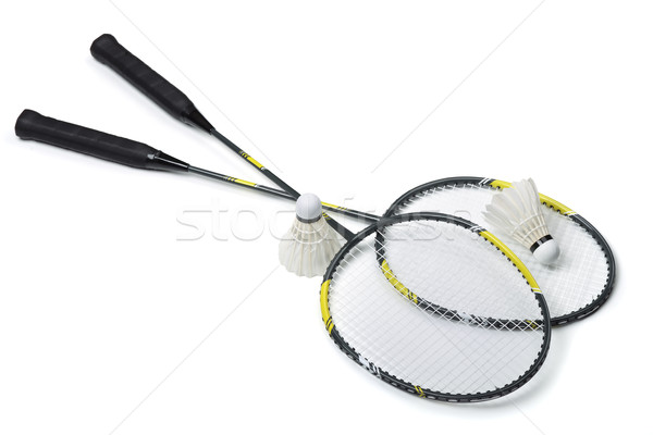 Badminton isolé blanche fitness métal sport Photo stock © coprid