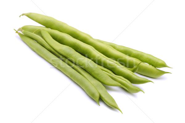 зеленая фасоль свежие изолированный белый медицина плодов Сток-фото © coprid