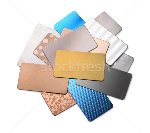 Metal samples Stock photo © coprid