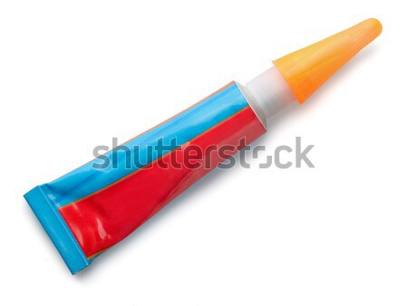 Colla tubo isolato bianco sfondo rosso Foto d'archivio © coprid