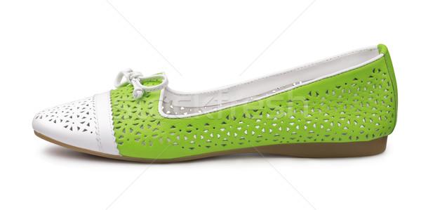ポンプ 靴 革 孤立した 白 ファッション ストックフォト © coprid