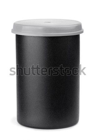 Film rouler cas noir plastique isolé Photo stock © coprid