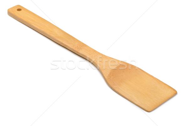 Bois spatule cuisine isolé blanche maison Photo stock © coprid