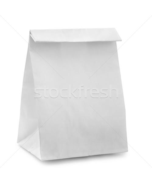 紙袋 白紙 袋 孤立した 白 食品 ストックフォト © coprid