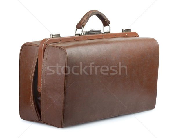 ヴィンテージ 荷物 袋 ブラウン 革 古い ストックフォト © coprid