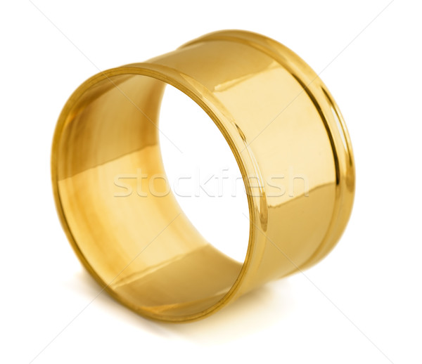 салфетку кольца пусто изолированный белый Сток-фото © coprid