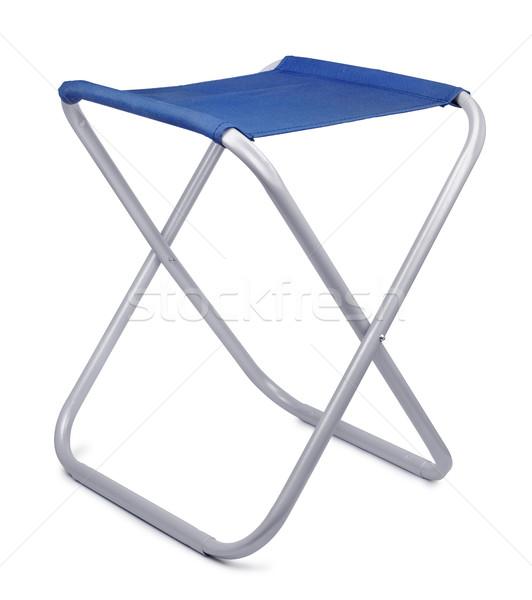 Zsámoly kempingezés izolált fehér háttér kék Stock fotó © coprid