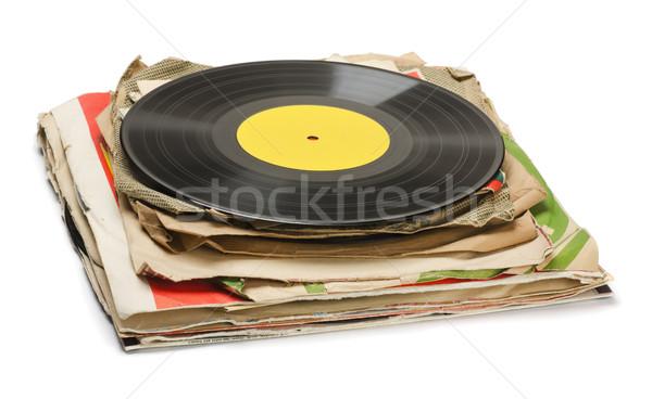 Old records Stock photo © coprid
