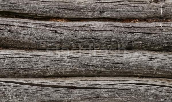Old log wall Stock photo © coprid