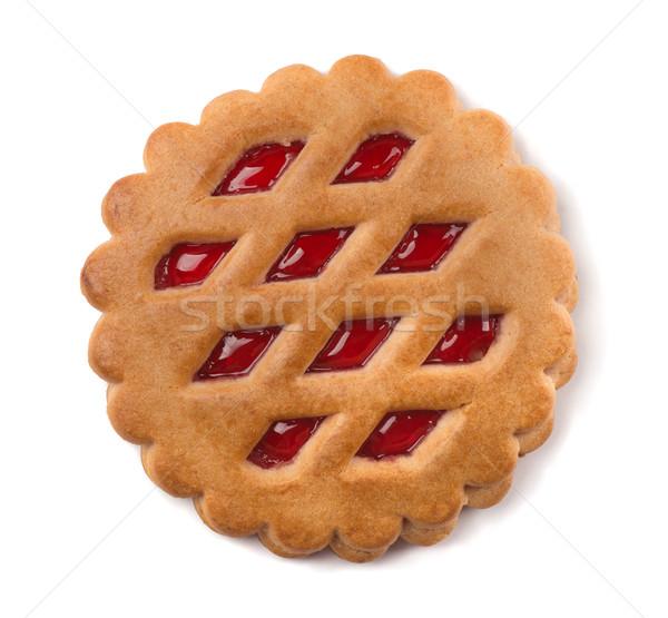 フルーツ クッキー ジャム 充填 孤立した 白 ストックフォト © coprid