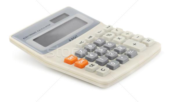 Сток-фото: калькулятор · Desktop · изолированный · белый · бизнеса · служба
