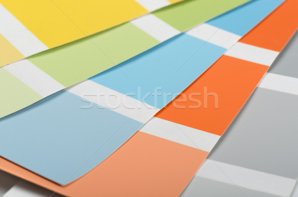 Color samples Stock photo © coprid