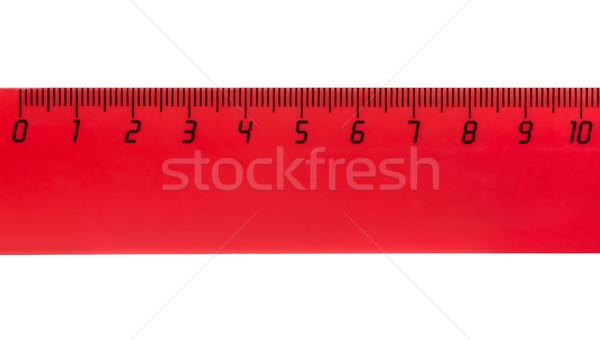 10 赤 プラスチック 定規 白 ストックフォト © coprid