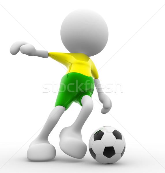 3d osób mężczyzn osoby piłka karykatura Zdjęcia stock © coramax