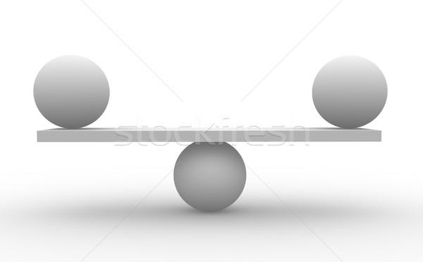 Kettő gömbök egyensúly 3d render üzlet absztrakt Stock fotó © coramax