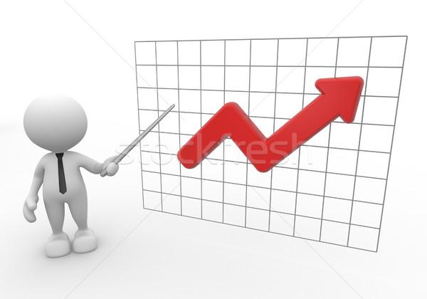 Stock fotó: Grafikon · 3d · emberek · férfi · emberek · nyíl · üzlet