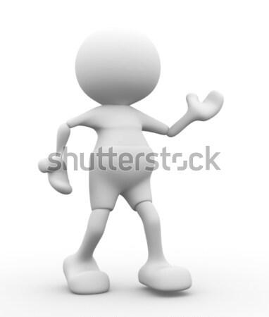 Caricatura 3d personas hombre persona mascota futbolista Foto stock © coramax