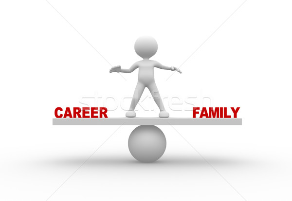 Career or family Stock photo © coramax