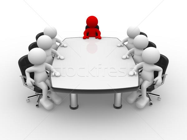 会議 表 3次元の人々 人間 文字 人 ストックフォト © coramax
