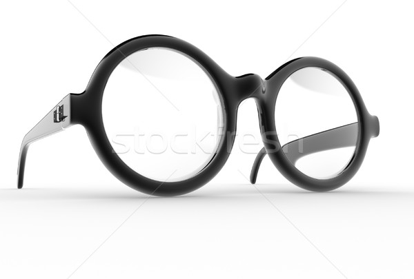 очки 3d визуализации иллюстрация глаза моде белый Сток-фото © coramax