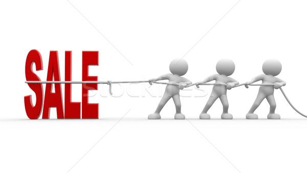 Vásár 3d emberek férfiak személy szó üzlet Stock fotó © coramax