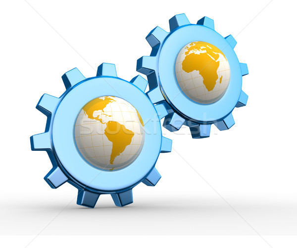 Earth globes Stock photo © coramax