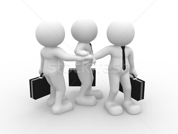 Amigos 3d pessoas humanismo pessoa pasta Foto stock © coramax