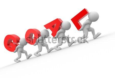 Stock fotó: üzletember · 3d · emberek · férfiak · személyek · szállít · nyíl