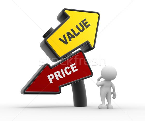 значение цен 3d люди человека человек работу Сток-фото © coramax