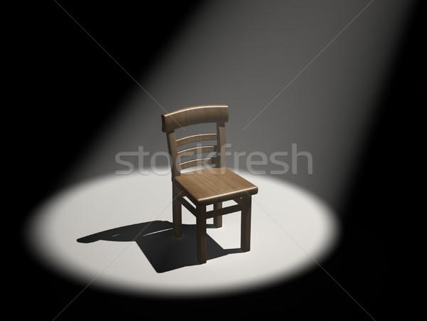 Szék 3d render illusztráció férfiak hangszóró színpad Stock fotó © coramax