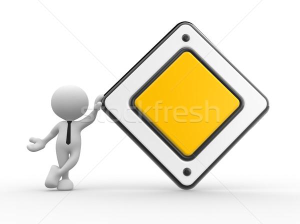 Prioriteit 3d mensen man persoon lege waarschuwing Stockfoto © coramax