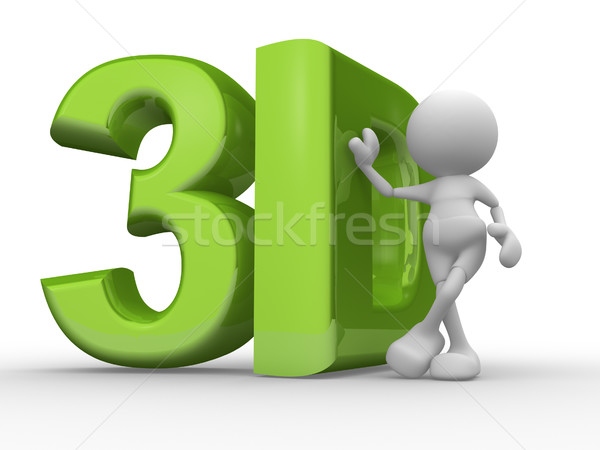 3d people - man, person with '3d' word Stock photo © coramax