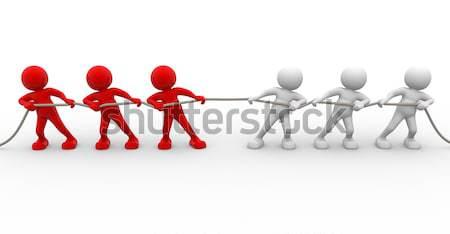 Farklı 3d insanlar insan karakter kişi ayırt etme Stok fotoğraf © coramax