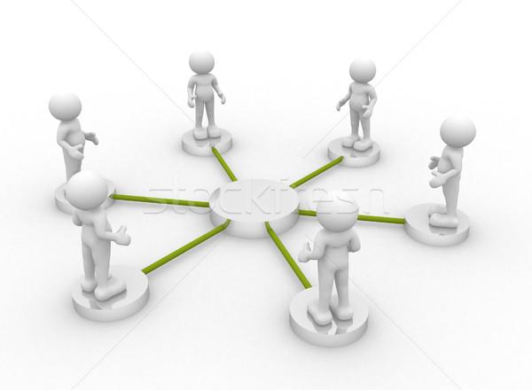 Squadra la gente 3d uomo persona abstract folla Foto d'archivio © coramax