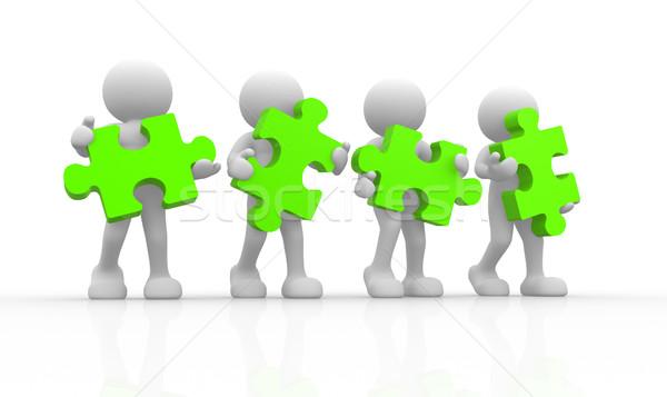 Green puzzle Stock photo © coramax
