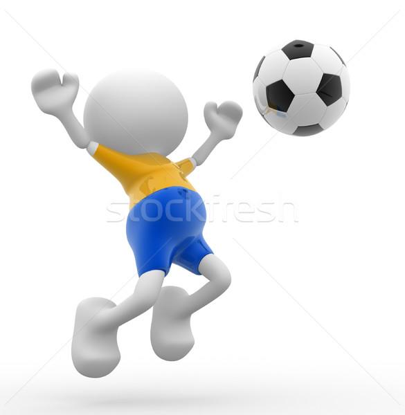 футболист 3d люди мужчин человек мяча карикатура Сток-фото © coramax