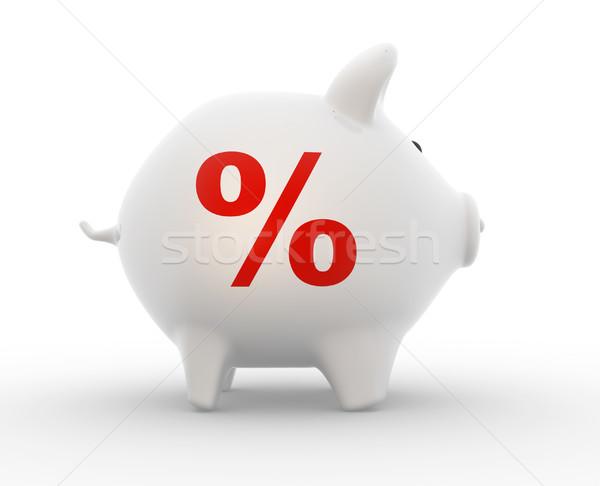Persely felirat százalék háttér játék piac Stock fotó © coramax