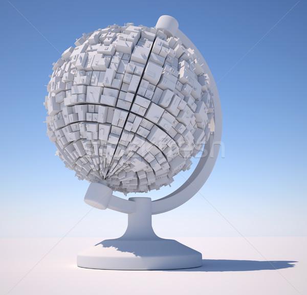 мира 3D сцена серый футуристический Сток-фото © coramax