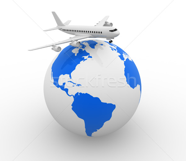 Earth globe Stock photo © coramax