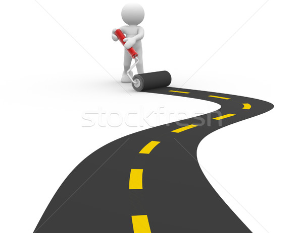 Paved road Stock photo © coramax