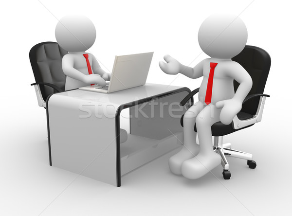 бизнесменов 3d люди мужчин человек служба Бизнес-партнеры Сток-фото © coramax