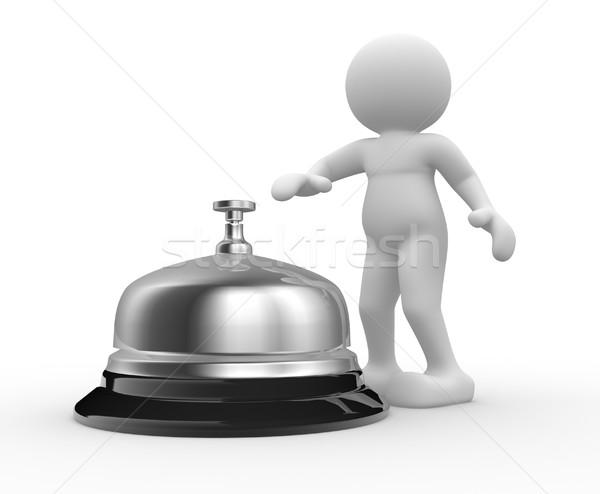 серебро колокола 3d люди человека характер 3d визуализации Сток-фото © coramax